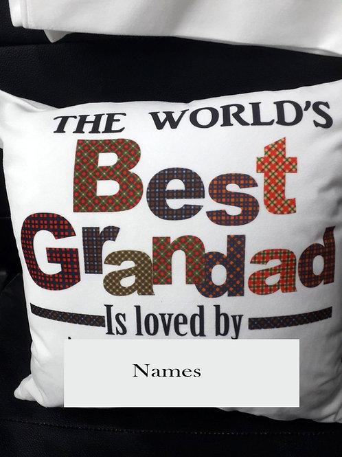 The Worlds Best Grandad Cushion