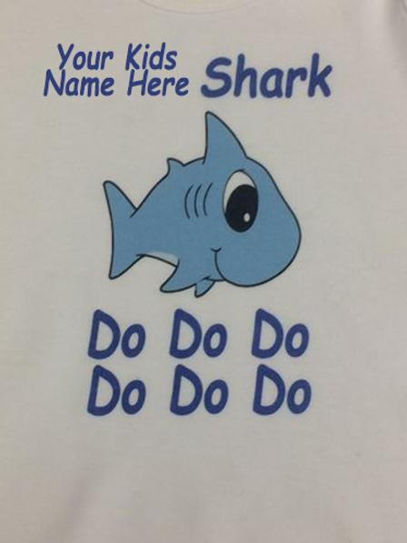 Personalised Shark Kids T-shirt - Boy
