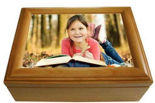 Maple wooden keepsake box