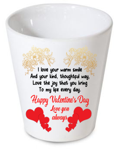 Personalised Valentine Plant Pot