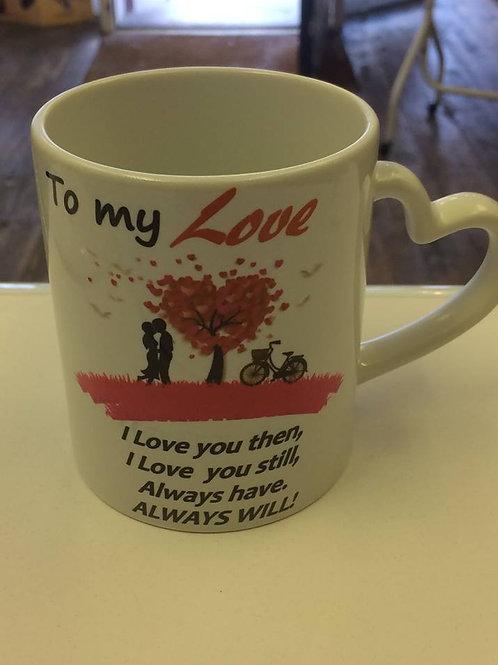 Heart Shaped Handle Mug