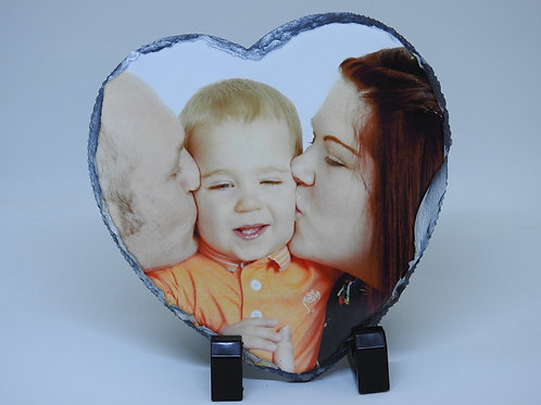 Personalised Heart Photo Slate