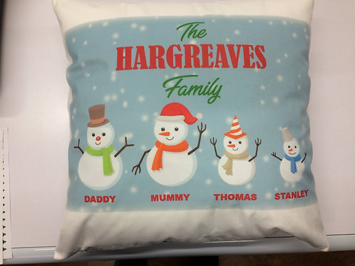 Personalised Christmas Family Cushion