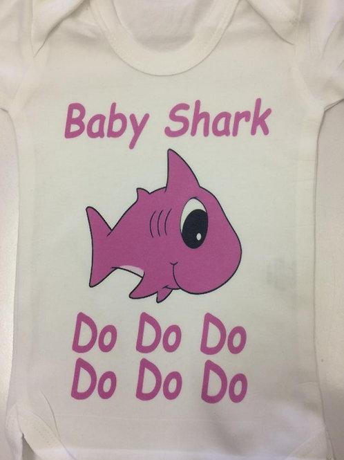Baby Shark Short Sleeve Bodysuit Girl