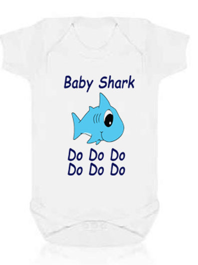 Baby Shark Short Sleeve Bodysuit Boy