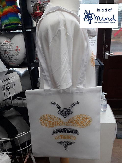 Mental Health Bee Shopping Bag