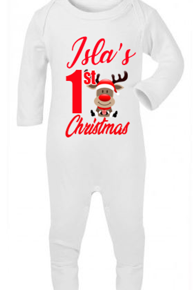 Personalised 1st Christmas Romper Suit & Bauble