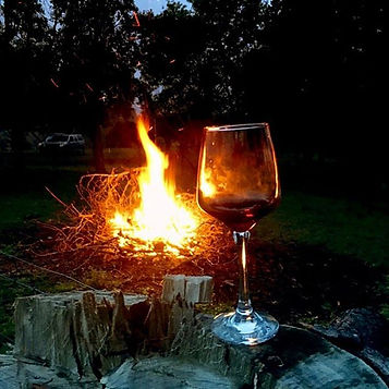Enjoy a glass of red by the fire 🔥 #dam