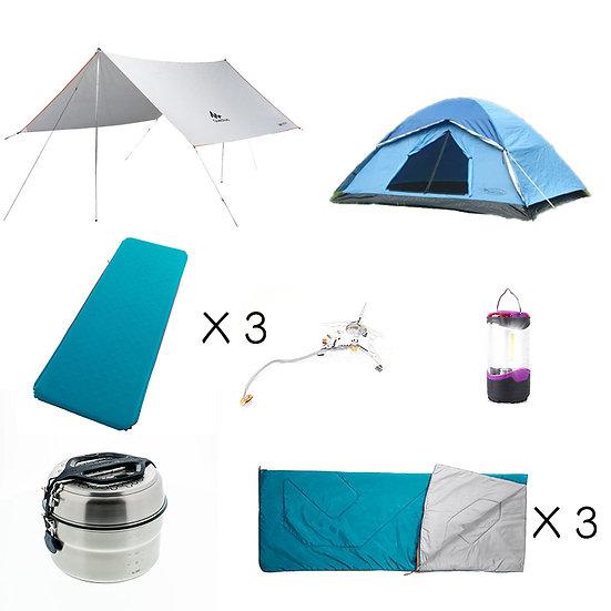 【免費送貨】Set F: 寫意3人同行露營套裝(租借)
