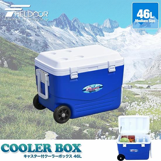 日本 Fieldoor 滾輪保溫箱 46L  Cooler Box 46L