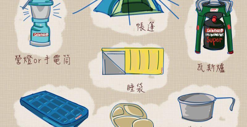 【露營準備】超實用!出發露營必備的裝備清單