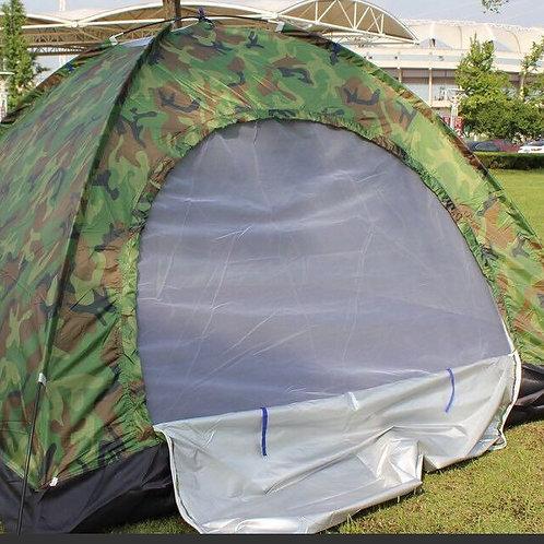 四人用迷彩單層帳篷