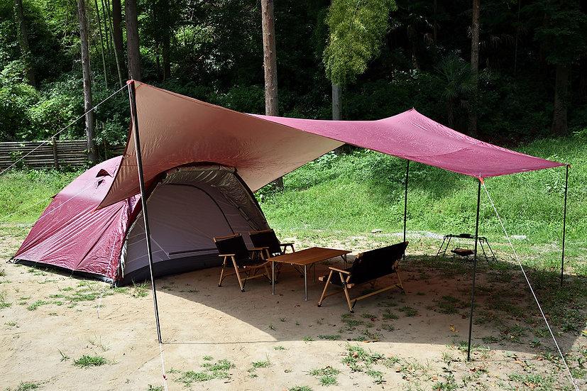 日本 Fieldoor Field Camp Dome 300 帳篷連天幕套裝
