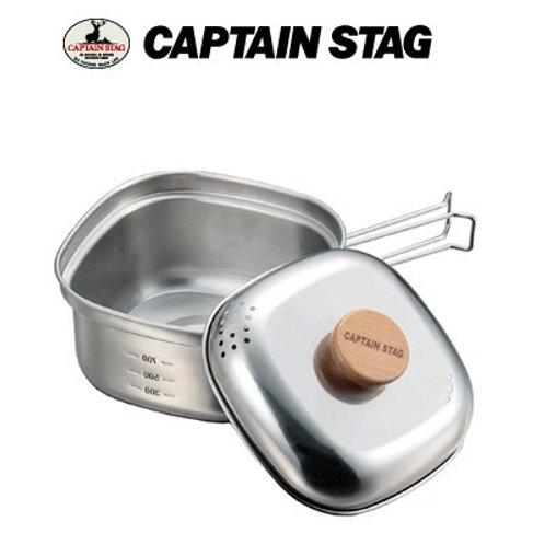 【日本製造】Captain Stag 不銹鋼方形拉麵鍋 - UH4202