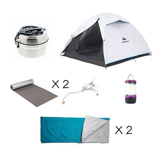 【免費送貨】Set A: 基本2人同行露營套裝(租借)