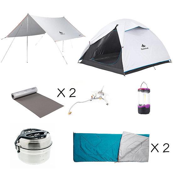【免費送貨】Set B: 進階2人同行露營套裝(租借)