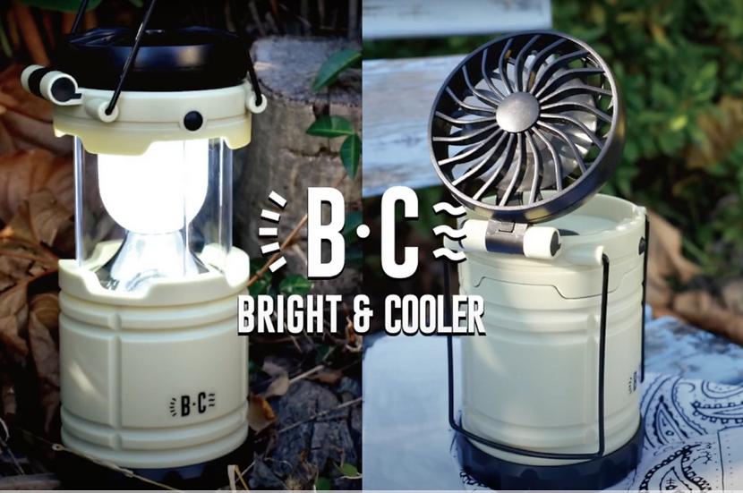 B&C LED 露營燈連風扇