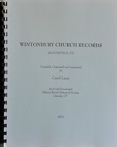 Wintonbury (Bloomfield, CT) Church and Cemetery Records