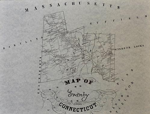 Granby, CT map 1855