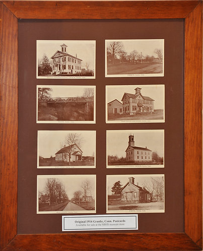 Original 1914 postcards of Granby Unused, 9 Unique Views, Frame Not Included