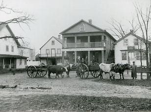 Loomis Store II and print shop on right.