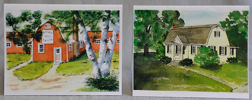 Watercolor notecard prints of Granby buildings