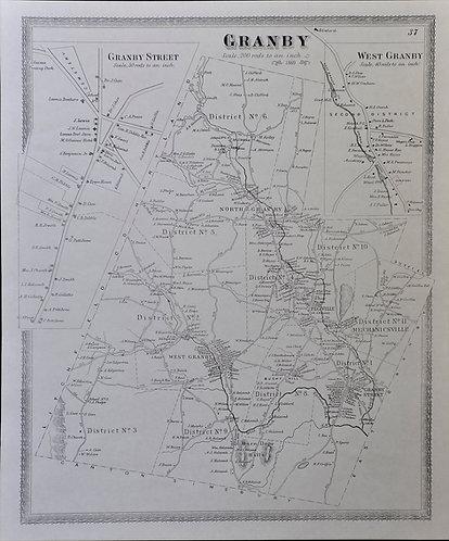 Granby, CT map 1869