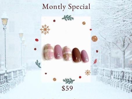 December/Monthly Special $59 hand gel