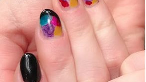 Multi-color design/Hand Gel Nail