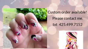 Nail art matches with your favorite dress!