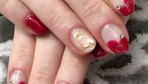 Heart-Shape design/Hand Gel Nail