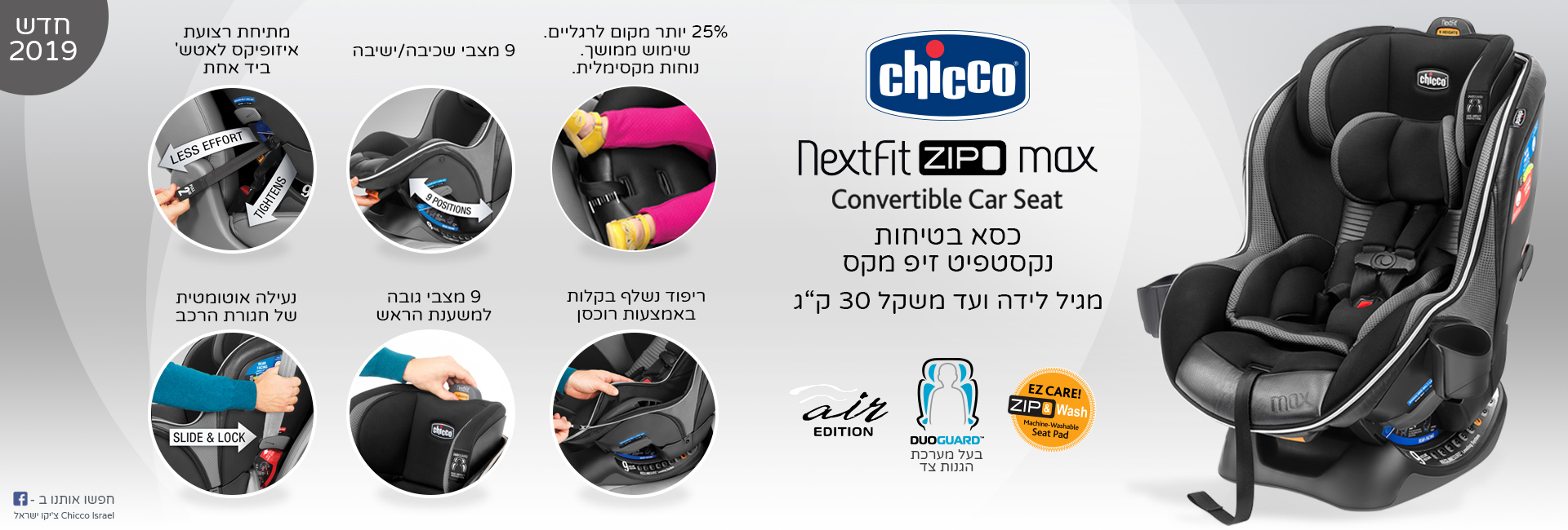 Chicco - NextFit Zip Max