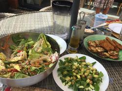 Plentiful food served