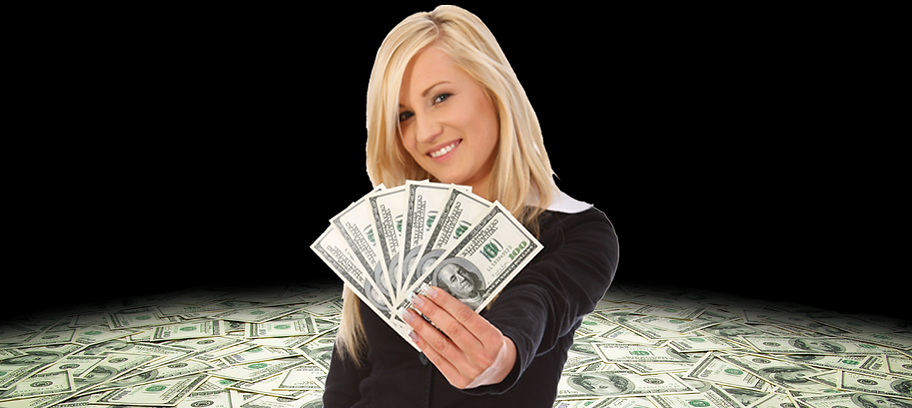 Women winning money