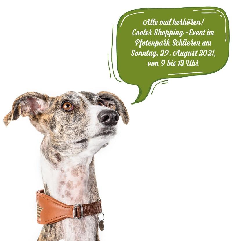 Alle herhören - am 29. August 2021 findet ein Shopping-Event im Pfotenpark statt