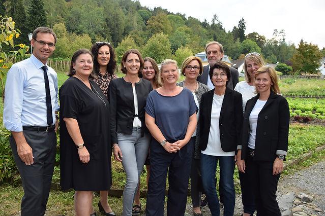 Landeshauptmann Markus Wallner mit dem Vorstand des Vorarlberger Familienbundes