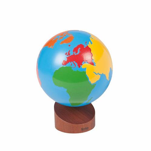 כדור הארץ- גלובוס יבשות צבע