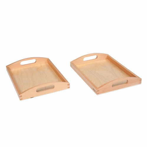 Wooden Tray Small  מגש עץ קטן: סט של 2