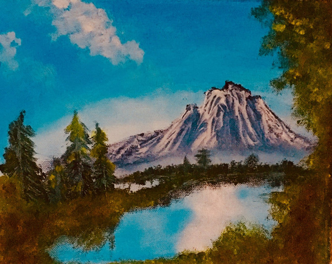 Landscape Painting, Bob Ross Style