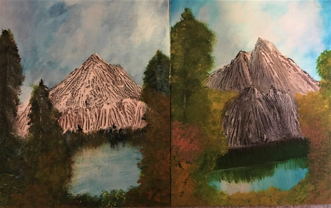 Drawings: Shaman/Bob Ross Landscape