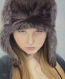 Girl With Fur Hat