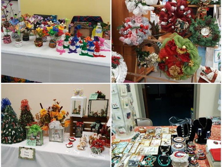 Join us at our Holiday Craft Bazaar Saturday, Nov 9th from 9 am to 2 pm