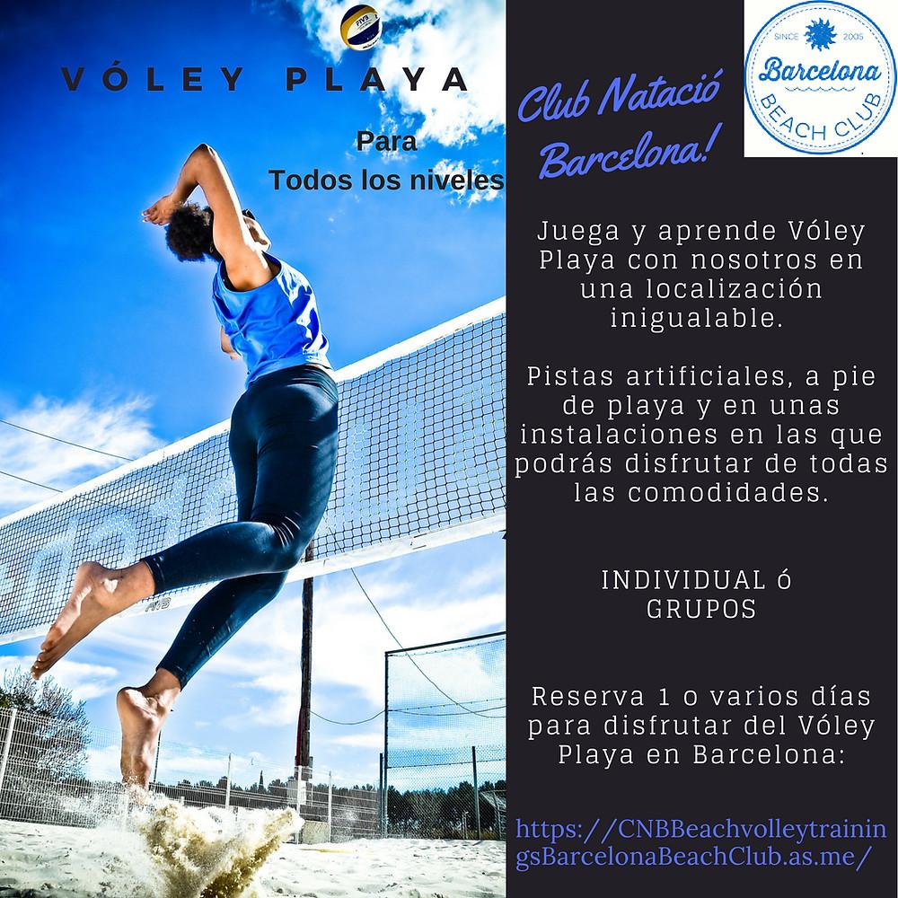Club Natació Barcelona! Voley Playa para todos los niveles