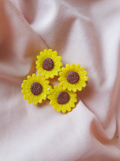 Sunflower set - 2 hair clips