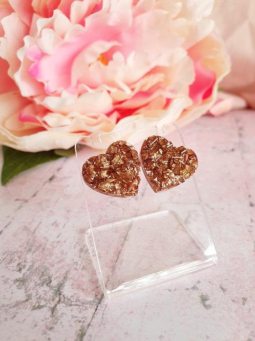 Valentine's Earstuds - gold