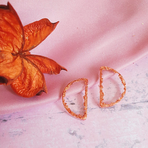 Copper ear studs - hypoallergenic
