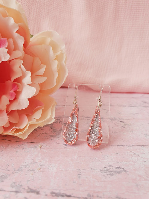 925 Sterling Silver Pink Earrings