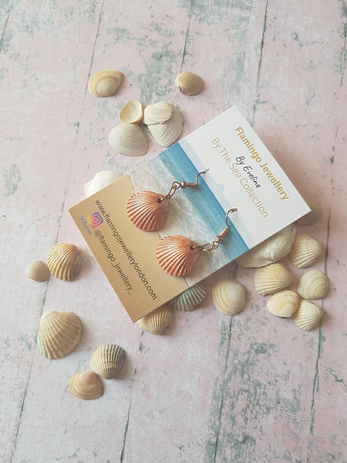 Seashell Dangle Ear Studs
