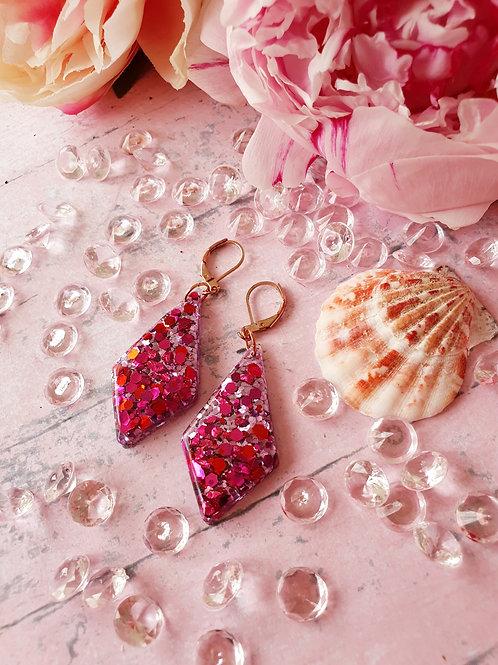 Sparkly stones amd glitter earrings