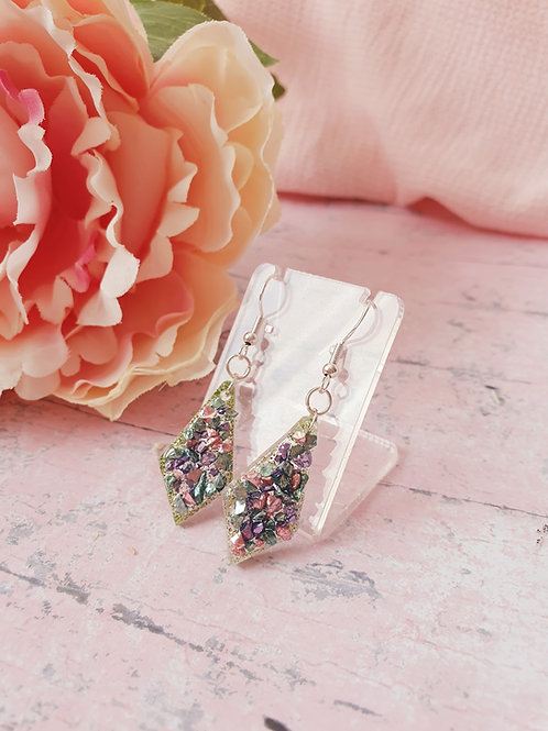 925 Sterling Silver Pastel Druzy Earrings